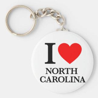J'aime la Caroline du Nord Porte-clé Rond