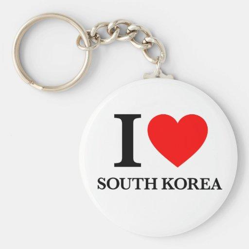 J'aime la Corée du Sud Porte-clef