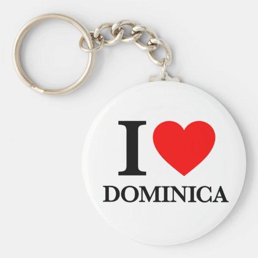 J'aime la Dominique Porte-clef