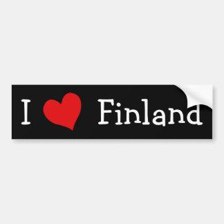 J'aime la Finlande Adhésif Pour Voiture