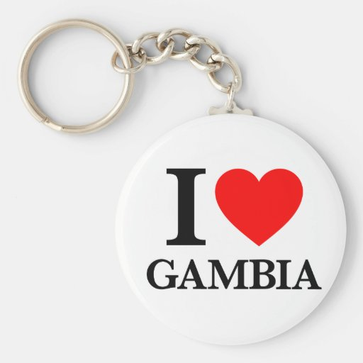 J'aime la Gambie Porte-clés