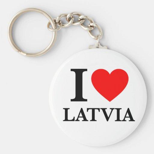 J'aime la Lettonie Porte-clef