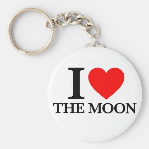 J'aime la lune porte-clé