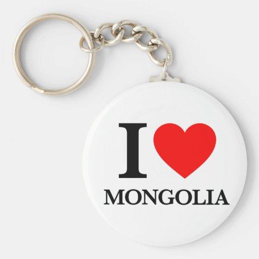 J'aime la Mongolie Porte-clés