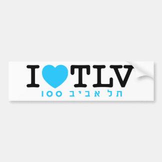 J'aime l'autocollant de Tel Aviv | Autocollants Pour Voiture