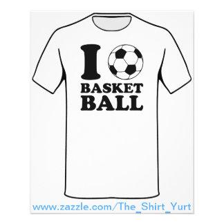 J'aime le basket-ball de ballon de football prospectus 11,4 cm x 14,2 cm
