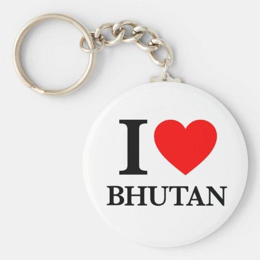 J'aime le Bhutan Porte-clés