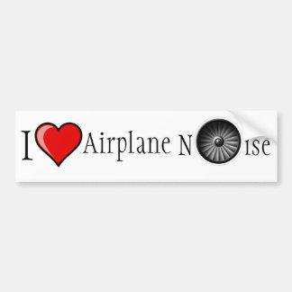 J'aime le bruit d'avion autocollant de voiture