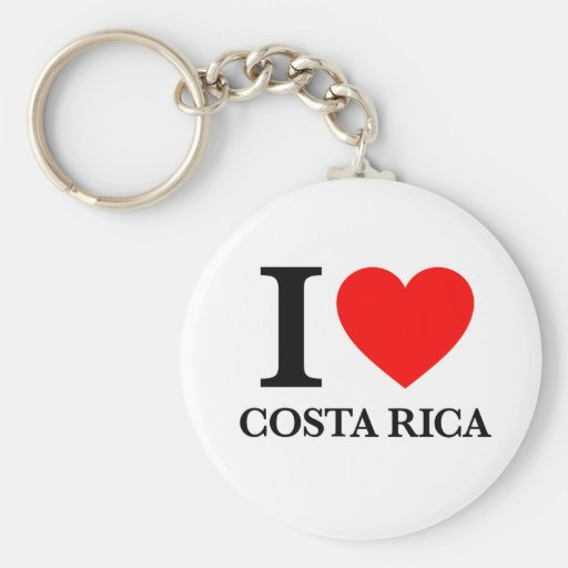 J'aime le Costa Rica Porte-clés
