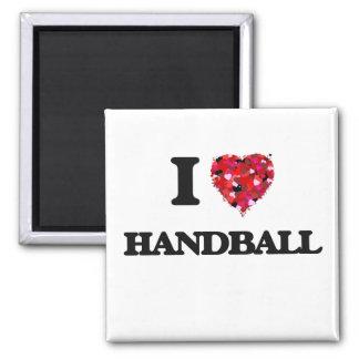 J'aime le handball magnet carré