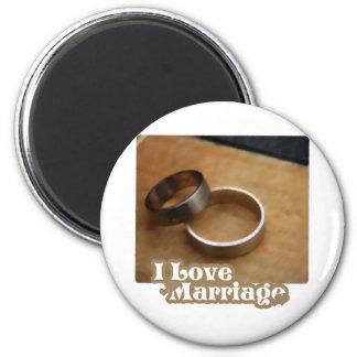 J'aime le mariage que les anneaux satisfont magnets