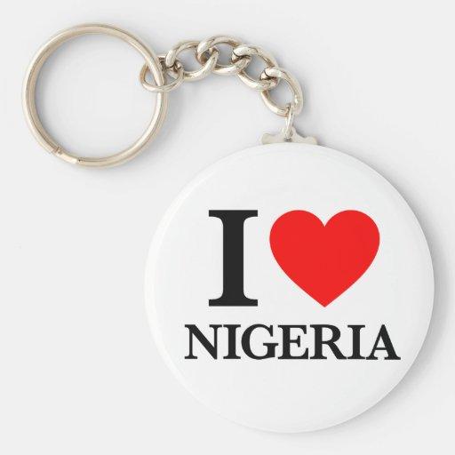 J'aime le Nigéria Porte-clé