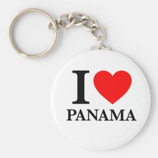 J'aime le Panama Porte-clefs