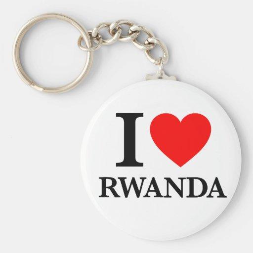 J'aime le Rwanda Porte-clé