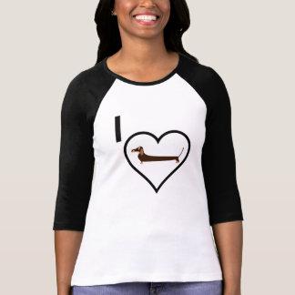 J'aime le teckel tee-shirt