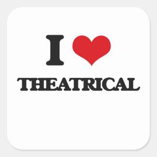 J'aime le Theatrical Sticker Carré