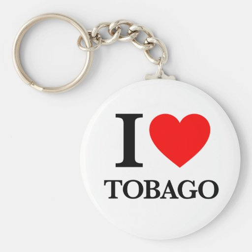 J'aime le Tobago Porte-clés