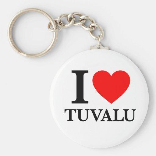 J'aime le Tuvalu Porte-clés