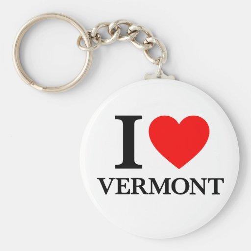 J'aime le Vermont Porte-clés