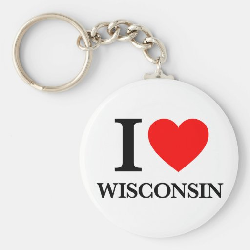 J'aime le Wisconsin Porte-clé