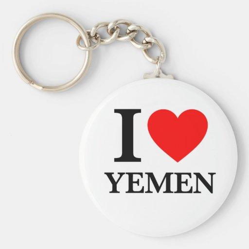 J'aime le Yémen Porte-clef