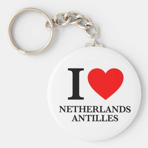 J'aime les Antilles néerlandaises Porte-clé