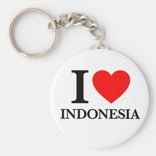 J'aime l'Indonésie Porte-clé