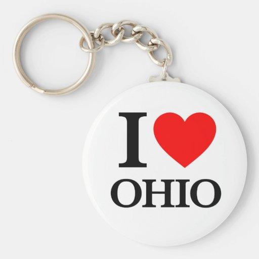 J'aime l'Ohio Porte-clé