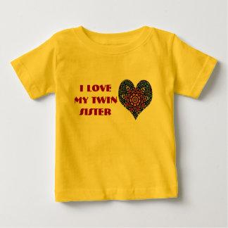 J'aime ma soeur jumelle, chemise d'enfant en bas t shirts
