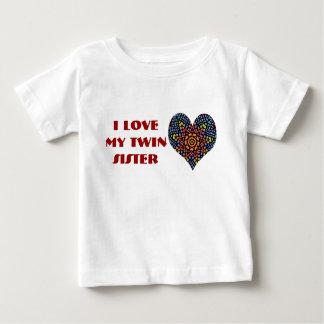 J'aime ma soeur jumelle, chemise d'enfant en bas tee shirts