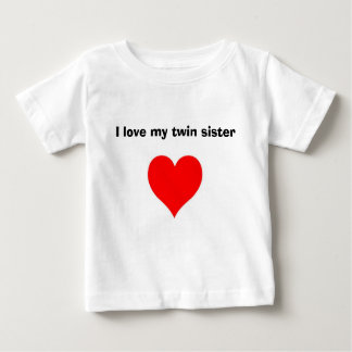 J'aime ma soeur jumelle tee-shirt