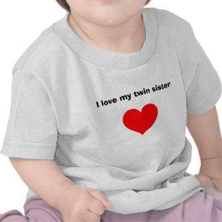 J'aime ma soeur jumelle t-shirt