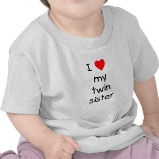 J'aime ma soeur jumelle t-shirts