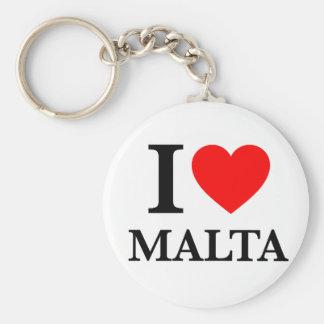 J'aime Malte Porte-clés