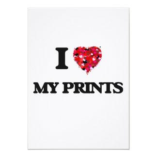 J'aime mes copies carton d'invitation  12,7 cm x 17,78 cm