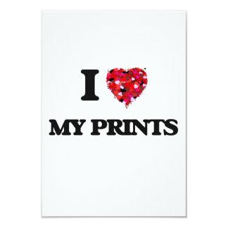 J'aime mes copies carton d'invitation 8,89 cm x 12,70 cm