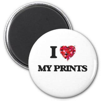 J'aime mes copies magnet rond 8 cm