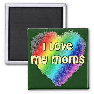 J'aime mes mamans magnet carré