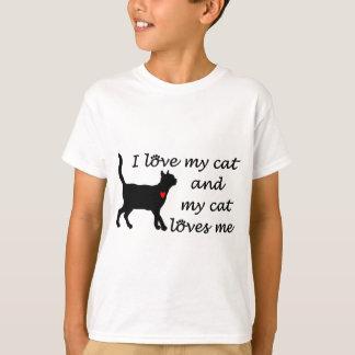 J'aime mon chat et mon chat m'aime t-shirt