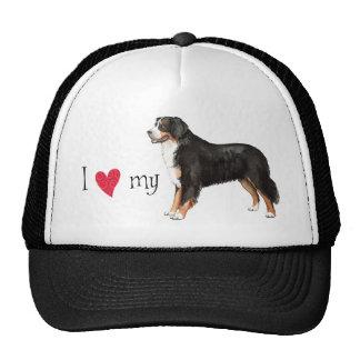 J'aime mon chien de montagne de Bernese Casquette