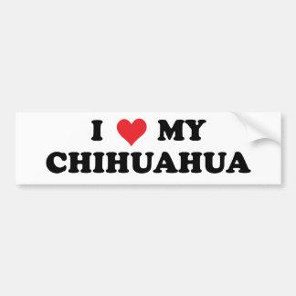 J'aime mon chiwawa autocollant de voiture