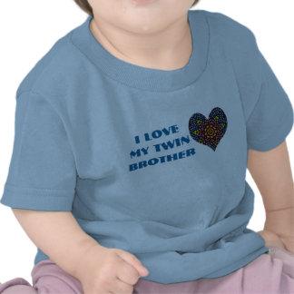 J'aime mon frère jumeau, chemise d'enfant en bas â t-shirts