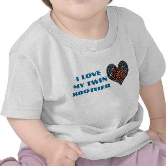 J'aime mon frère jumeau, chemise d'enfant en bas t-shirt