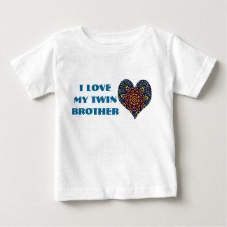 J'aime mon frère jumeau, chemise d'enfant en bas tee-shirt