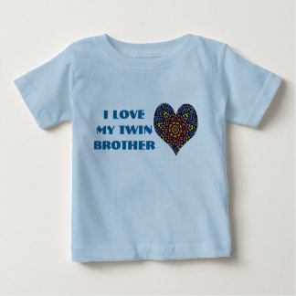 J'aime mon frère jumeau, chemise d'enfant en bas tshirts