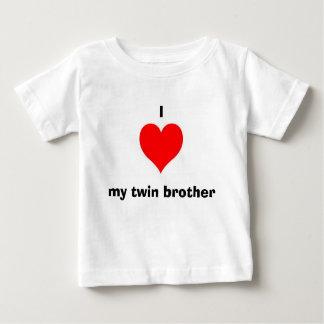 J'aime mon frère jumeau t-shirt pour bébé