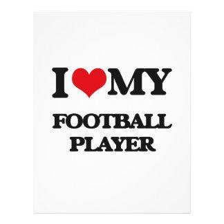 J'aime mon joueur de football prospectus en couleur