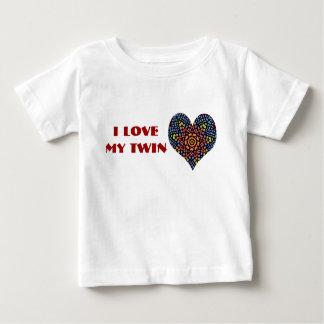 J'aime mon jumeau, chemise d'enfant en bas âge tee shirts