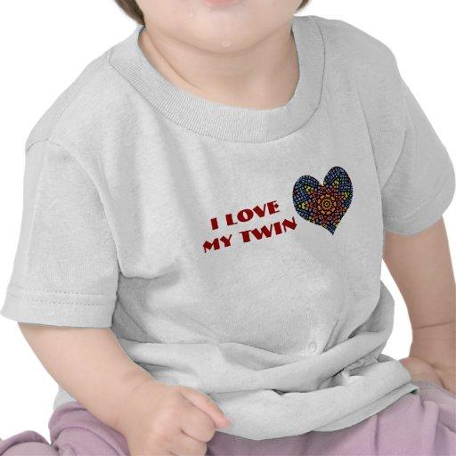 J'aime mon jumeau, chemise d'enfant en bas âge t-shirts