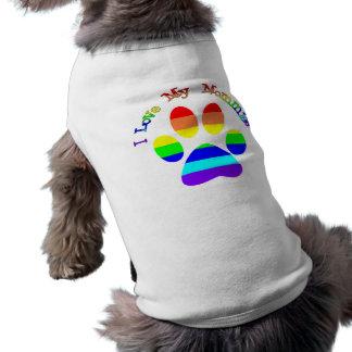 J'aime mon tee - shirt de chien de gay pride de t-shirt pour chien